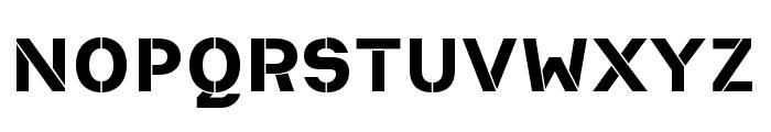 Heimat Stencil ExtraBold Font UPPERCASE