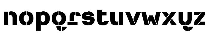 Heimat Stencil ExtraBold Font LOWERCASE