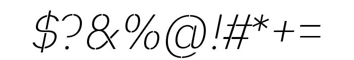 Heimat Stencil ExtraLight Italic Font OTHER CHARS