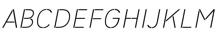 Heimat Stencil ExtraLight Italic Font UPPERCASE