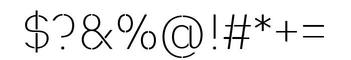 Heimat Stencil ExtraLight Font OTHER CHARS
