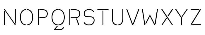 Heimat Stencil ExtraLight Font UPPERCASE