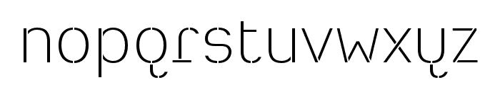 Heimat Stencil ExtraLight Font LOWERCASE