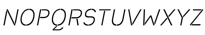 Heimat Stencil Light Italic Font UPPERCASE