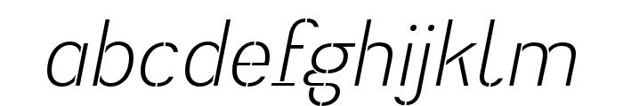 Heimat Stencil Light Italic Font LOWERCASE