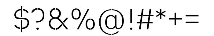 Heimat Stencil Light Font OTHER CHARS