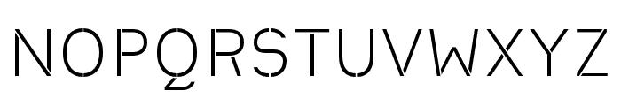 Heimat Stencil Light Font UPPERCASE