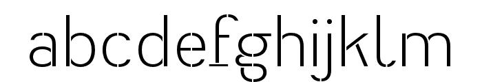 Heimat Stencil Light Font LOWERCASE