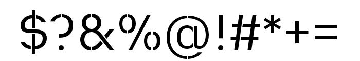 Heimat Stencil Regular Font OTHER CHARS