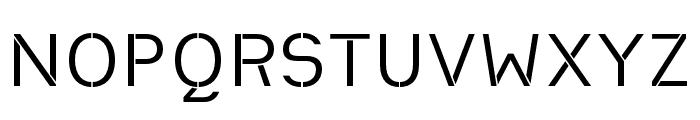 Heimat Stencil Regular Font UPPERCASE