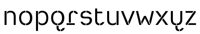 Heimat Stencil Regular Font LOWERCASE