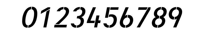 Heimat Stencil SemiBold Italic Font OTHER CHARS