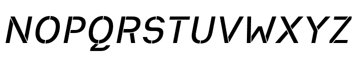 Heimat Stencil SemiBold Italic Font UPPERCASE