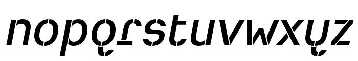 Heimat Stencil SemiBold Italic Font LOWERCASE
