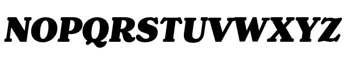 Henriette Black Italic Font UPPERCASE
