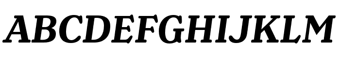 Henriette Compressed Bold Italic Font UPPERCASE
