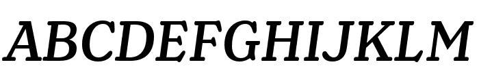 Henriette Compressed Medium Italic Font UPPERCASE