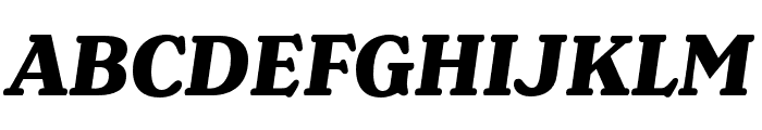 Henriette Condensed Heavy Italic Font UPPERCASE