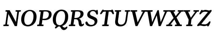 Henriette Condensed Medium Italic Font UPPERCASE