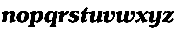 Henriette Heavy Italic Font LOWERCASE