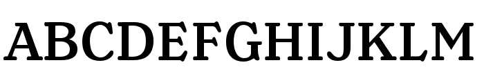 Henriette Medium Font UPPERCASE