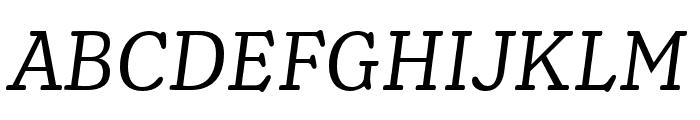 Henriette Regular Italic Font UPPERCASE