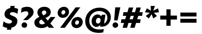 Hero New ExtraBold Italic Font OTHER CHARS