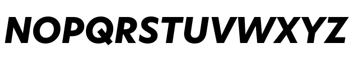 Hero New ExtraBold Italic Font UPPERCASE