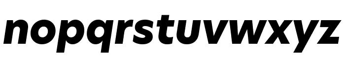 Hero New ExtraBold Italic Font LOWERCASE