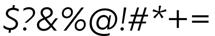 Hero New Light Italic Font OTHER CHARS
