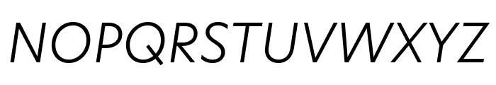 Hero New Light Italic Font UPPERCASE