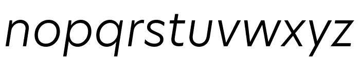 Hero New Light Italic Font LOWERCASE
