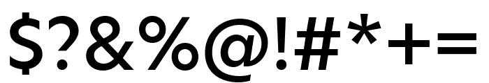 Hero New Medium Font OTHER CHARS
