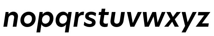 Hero New SemiBold Italic Font LOWERCASE