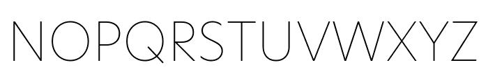 Hero New Thin Font UPPERCASE