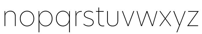 Hero New Thin Font LOWERCASE