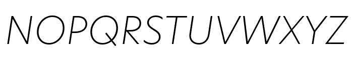 Hero New UltraLight Italic Font UPPERCASE