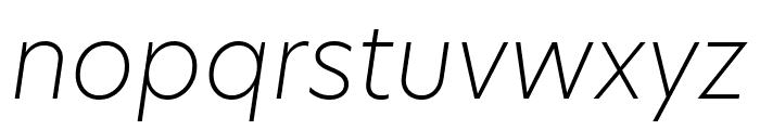 Hero New UltraLight Italic Font LOWERCASE