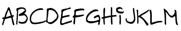 Hilde Sharp Regular Font UPPERCASE