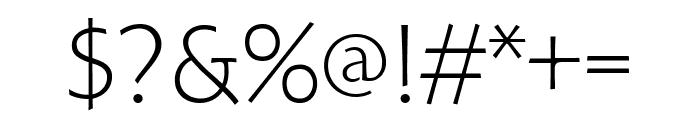 Hoffmann Light Font OTHER CHARS