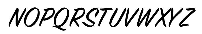 House Slant Regular Font UPPERCASE