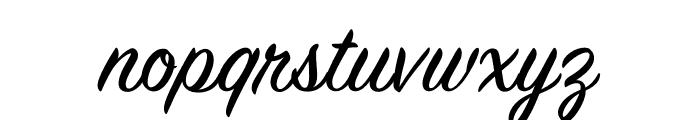House Slant Regular Font LOWERCASE