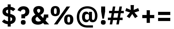 IBM Plex Arabic Bold Font OTHER CHARS