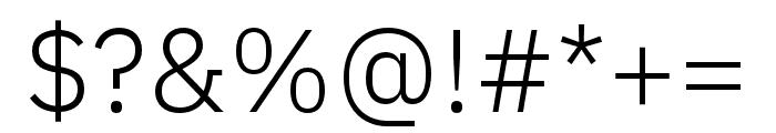 IBM Plex Arabic Light Font OTHER CHARS