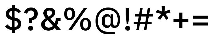 IBM Plex Arabic Medium Font OTHER CHARS