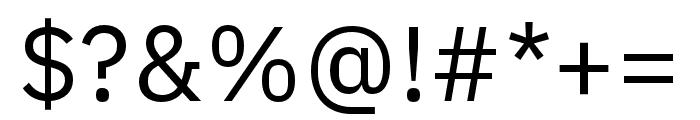 IBM Plex Arabic Regular Font OTHER CHARS