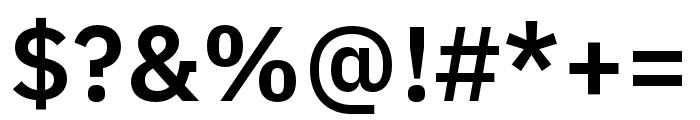 IBM Plex Arabic SemiBold Font OTHER CHARS