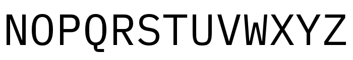 IBM Plex Mono Regular Font UPPERCASE