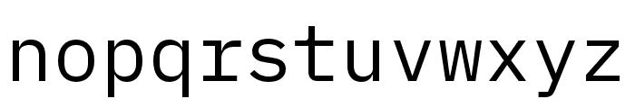 IBM Plex Mono Regular Font LOWERCASE