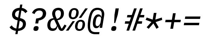 IBM Plex Mono Text Italic Font OTHER CHARS